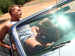 Nicole Aniston fucked on the hood of a car