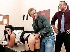 Mackenzee Pierce double penetration in office