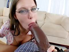 Hot interracial banging between big black cock and pale looking girl porn video
