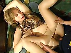 Horny Blonde Mature Loves Getting Fucked Wearing Her Sexy Pantyhose