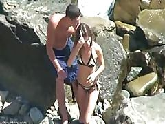 Horny Voyeur Couple Caught Fucking On The Beach