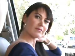 Eva Karera the luxurious brunette gets fucked and facialed
