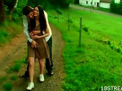 Banging, Banging, Blowjob, Brunette, Couple, Doggystyle