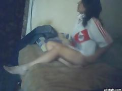 Argentinian Babe Riding Cock in Homemade