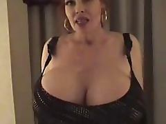 Mature With Monster Tits Fantasizes She's Being Fucked and Masturbates
