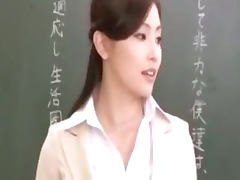 Asian teacher and her horny students porn video