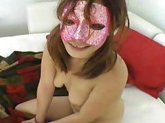 Masked wife makes hardcore porn