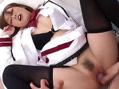 Rio Hamasaki enjoys jumping on a cock in cowgirl position