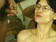 Hairy slut with no breast takes a shpwer porn video