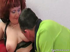 Nasty redhead hoe gets naked for her man