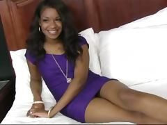 18 yearold black teen Millian Blaze interracial sex