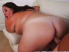 Horny Hungarian crushes cock with fat coochie