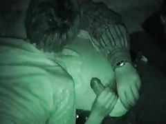 Amateur couple at night