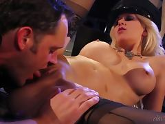 Alec Knight pounds sexy blonde Jazy Berlin's amazing holes