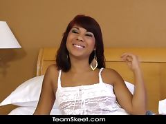 TeensDoPorn Latina teen interviewed banged