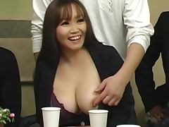 Japanese hottie shows her pussy and fucks some horny dude