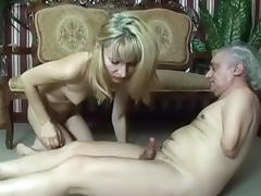 Old and Young, Blonde, Blowjob, Cum, Cumshot, HD