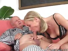 Night desires of the old man come true with Helena porn video
