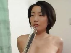 Deep anal sex with hairy japanese model