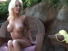 Theresa Giovanni the lovely blonde poses outdoors