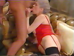 Elusive French Granny and France Gall Get Their Assholes Opened porn video