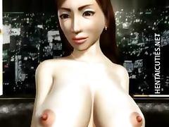 3D hentai MILF gets big tits tortured