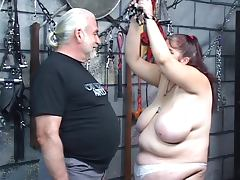 Caning, BBW, Brunette, Caning, Fat, German