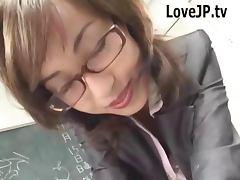 Japanese Teacher Wearing Glasses