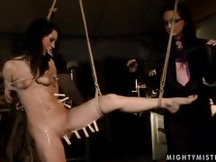 Black Sonja can't make any move as she is tied up
