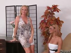Ashley Bulgari and Silvia Saint pose naked for the camera