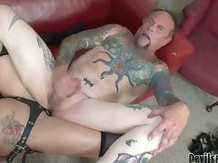 Lexy Veracruz drills Bruce Blackheart's asshole with a strap on