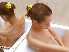 Natashas golden shower in the whirpool