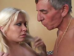 Naughty nannies with old man porn video