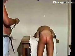 Spanking my Cock worshipping Sub Wife Gina