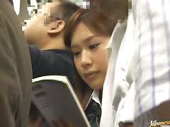 Azumi Mizushima fucked from the rear in a public place