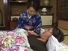 Randy Japanese Wife Mai Satsuki Fucked by Two Dicks in Threesome
