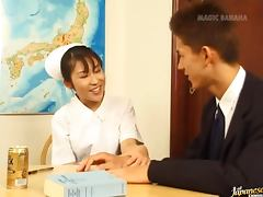 Mako Mochizuki in some wild nurse rocking sex