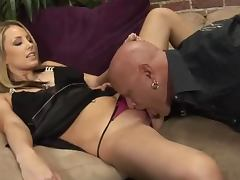 Mother and daughter give great double blowjob to lucky guy