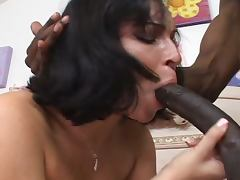 Busty chick loves black meat in her pussy