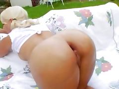 Deep anal acrobat sex in the outdoor