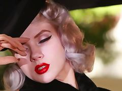 Amazing 30's style video with hot blonde showing her beauties