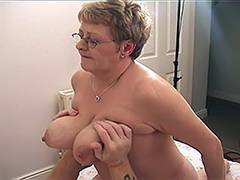 Blonde Russian Mature VS Younger Guy 5 porn video