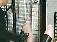 Needles Through Her Pussylips bdsm bondage slave femdom domination
