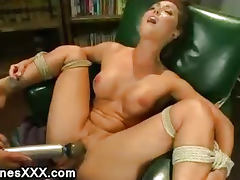 Tied Up, Babe, Machine, Orgasm, Pussy, Tied Up