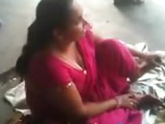 Busty Indian MILF is talking about sex on the train station