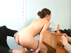 Young secretary exploited by her bosses
