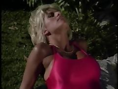 Blonde lifeguard with awesome breasts gets her pussy tasted and fucked