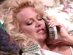 Chubby blonde Britt Morgan gets her hairy snatch licked and drilled