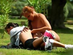 All, Brunette, Double, Lesbian, Double Penetration, Fitness