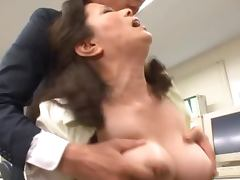 Horny Japanese MILF Gets a Super Sexy Office Fuck